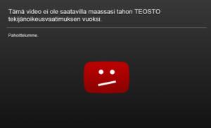Tämä video ei ole saatavilla maassasi tahon TEOSTO tekijänoikeusvaatimuksen vuoksi.